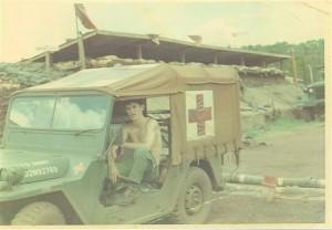 Scot in jeep