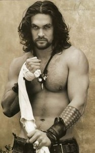 Jason Momoa, ladies. Inspiration for my hero, Lachlan. Yum.